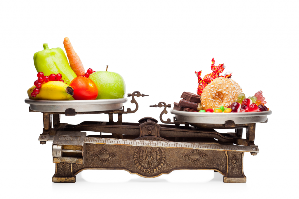 healthy eating vs junk food