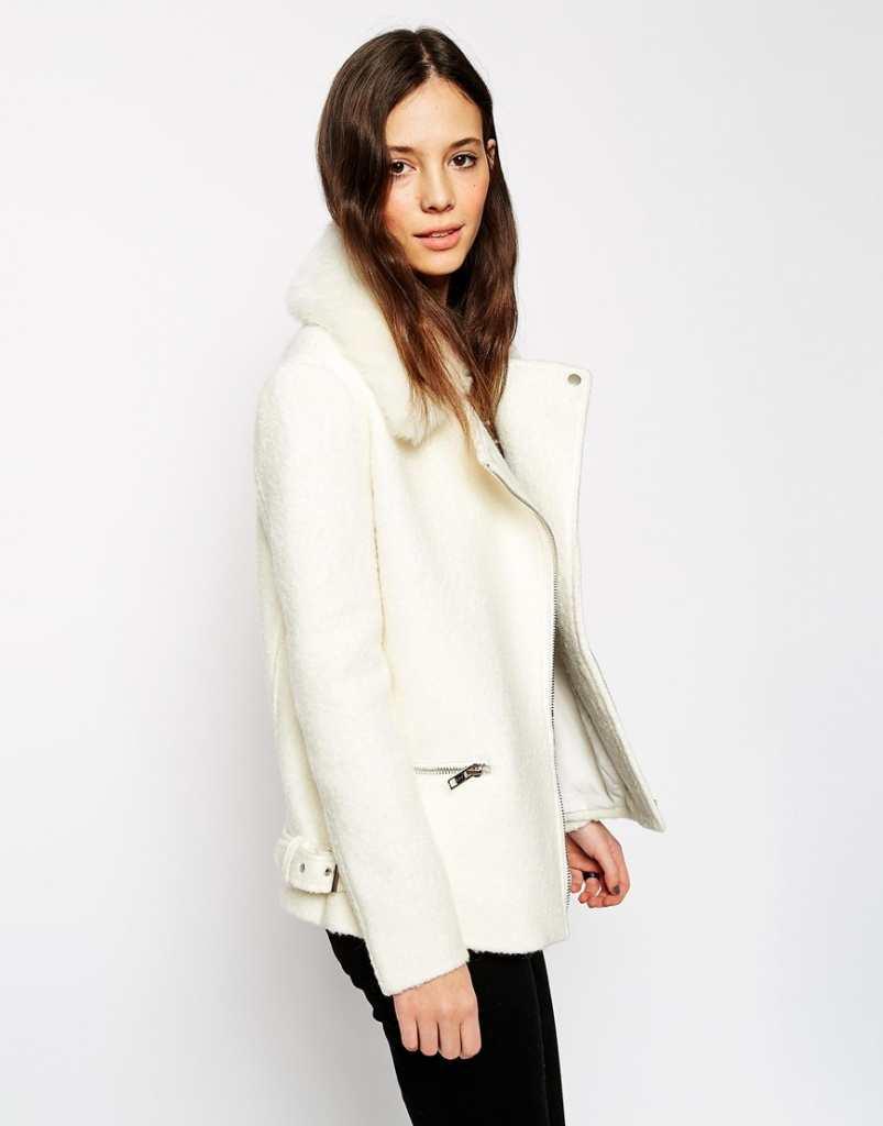 ASOS Biker Jacket In Textured Wool
