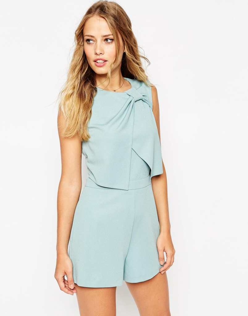 ASOS Knot Front Playsuit