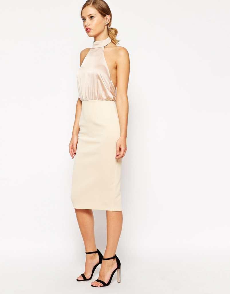 ASOS Soft Halter Pencil Dress