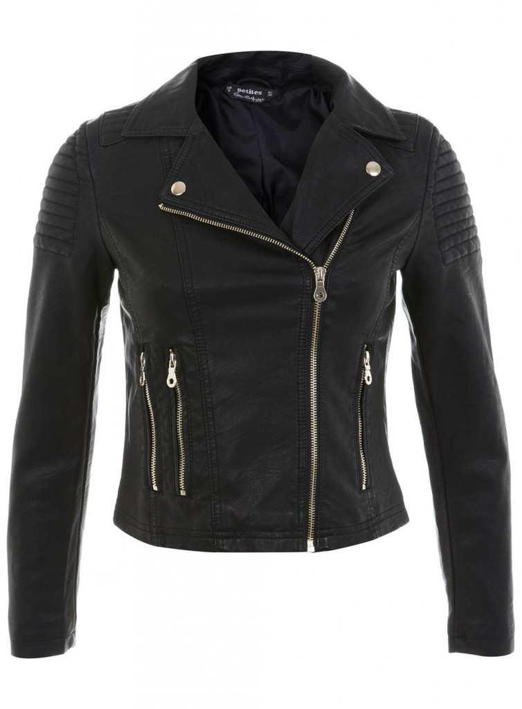 miss selfridge Petites Faux Leather Jacket