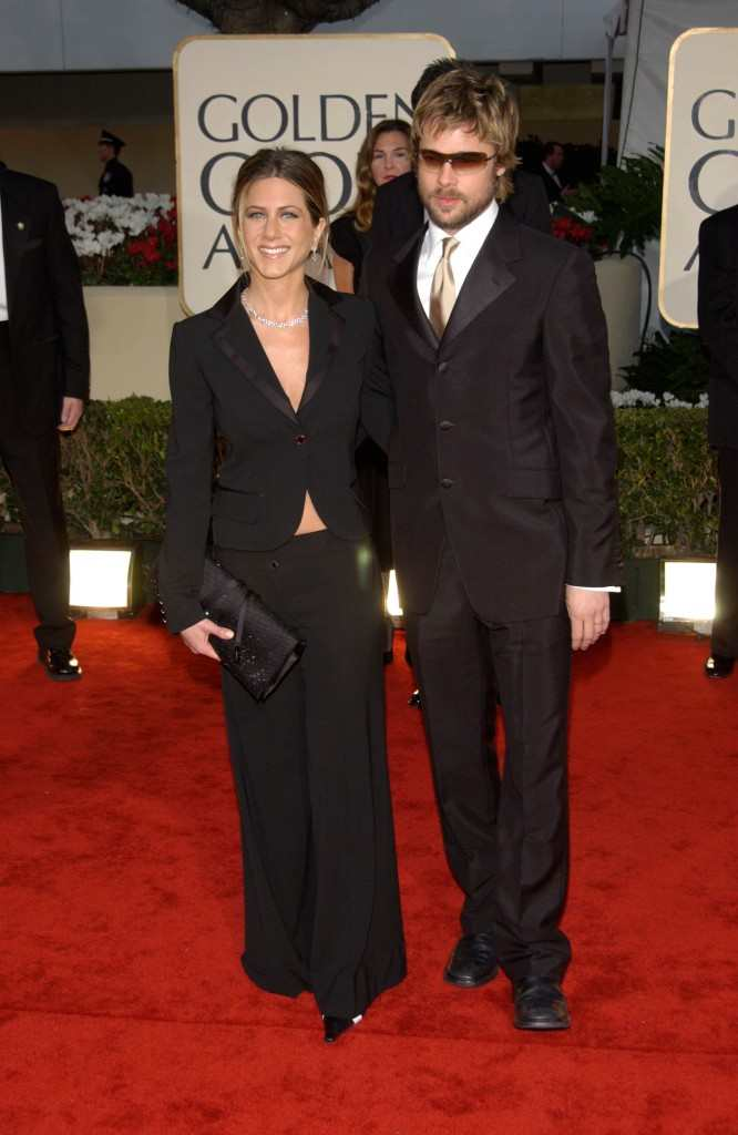 Jennifer Aniston and Brad Pitt Golden Globes 2002