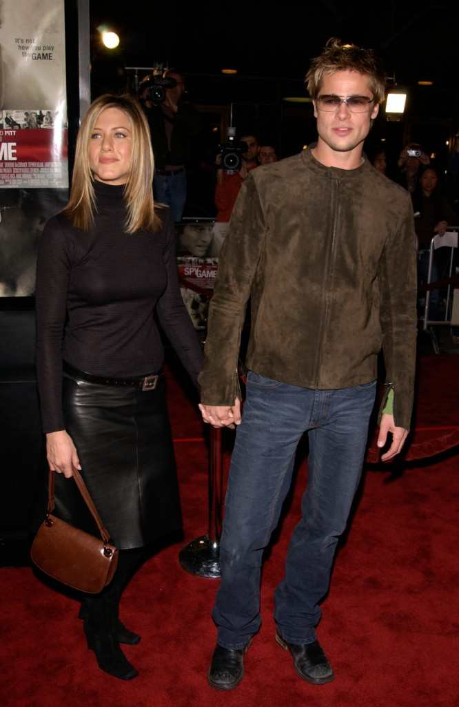 Jennifer Aniston and Brad Pitt Spy Game premiere 2001