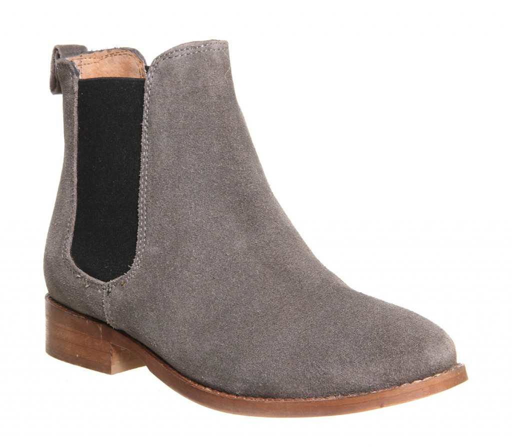 Office Bramble Chelsea boots grey suede