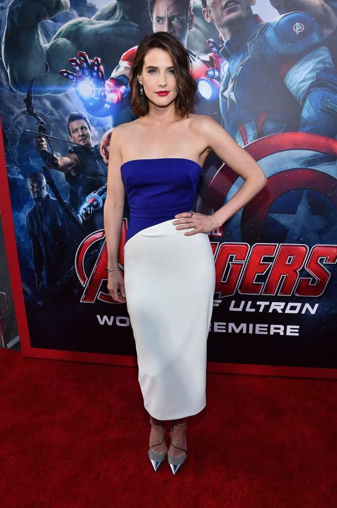 """Cobie Smulders attends the world premiere of Marvel's """"Avengers: Age Of Ultron"""" at the Dolby Theatre"""
