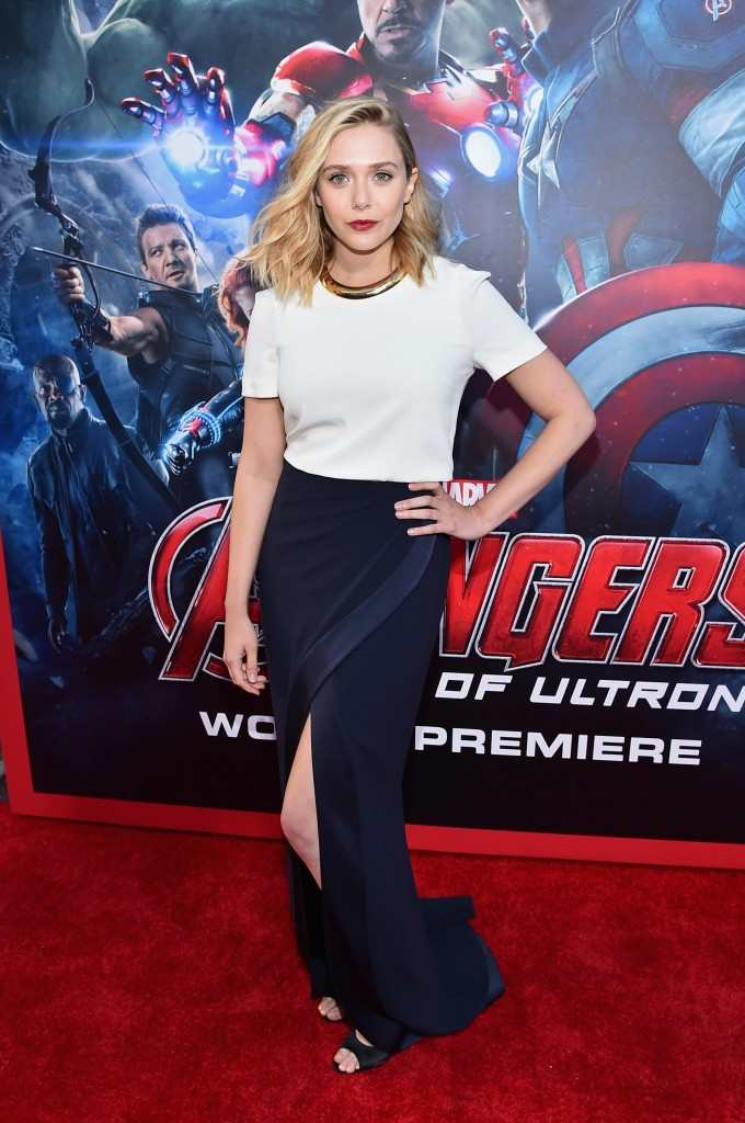 "Elizabeth Olsen World Premiere Of Marvel's ""Avengers: Age Of Ultron"" - Red Carpet"