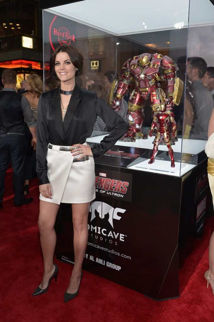 """Jaimie Alexander attends the world premiere of Marvel's """"Avengers: Age Of Ultron"""""""