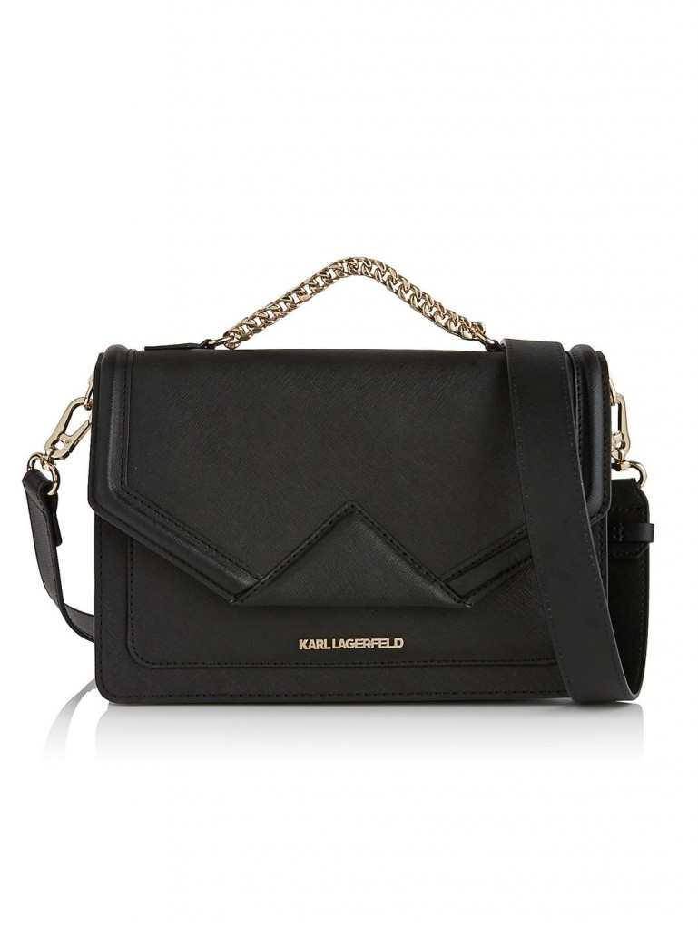 KARL LAGERFELD K Classic Shoulder Bag - Black