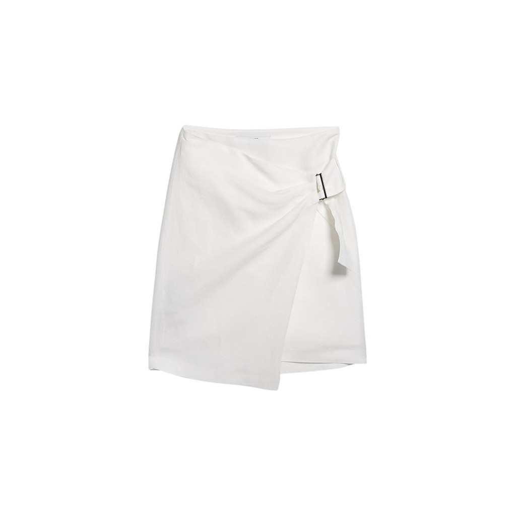 Mango Linen Blend Wrap Skirt
