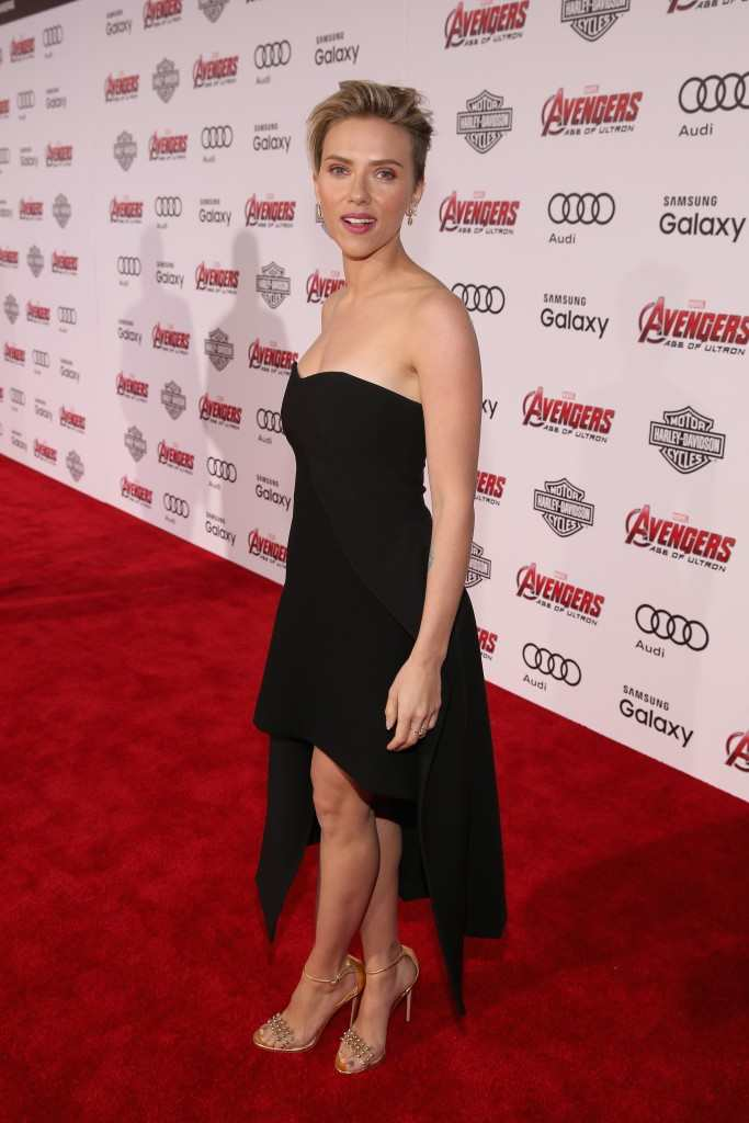 """Scarlett Johansson attends the world premiere of Marvel's """"Avengers: Age Of Ultron"""" at the Dolby Theatre"""