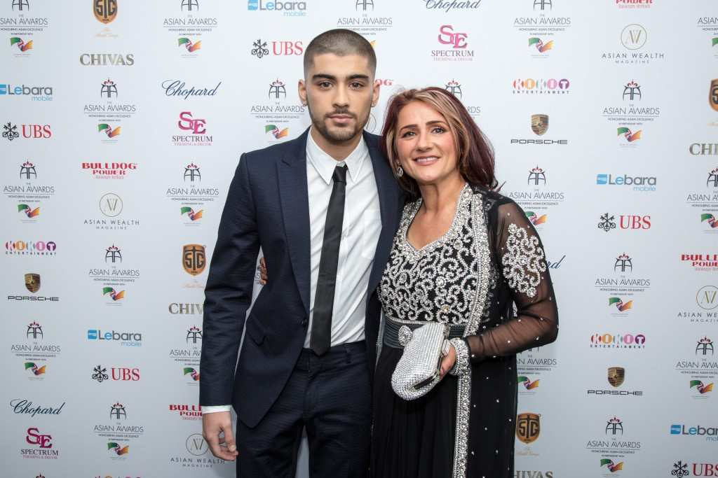 Zayn Malik with mum Trisha