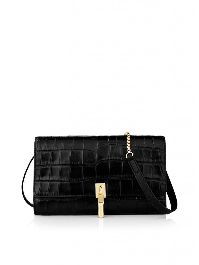 Very Exclusive Elizabeth and James Cynnie Embossed Clutch with chain