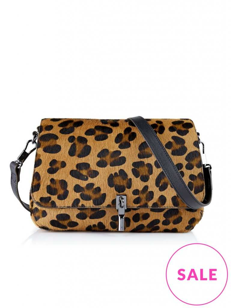 Very Exclusive Elizabeth and James Cynnie Mini Leopard Print Cross Body Bag
