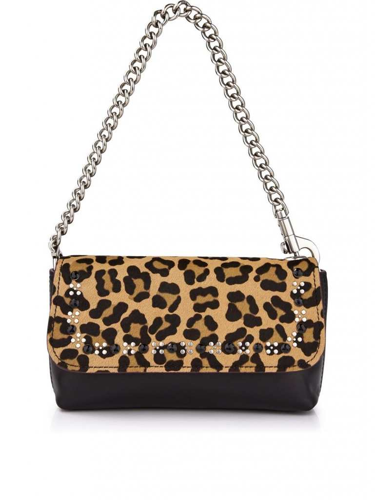 Very Exclusive Marc by Marc Jacobs Palladium Leopard Clutch