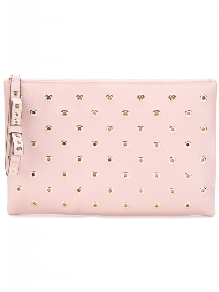 Very Exclusive Red Valentino Clutch with eyelets