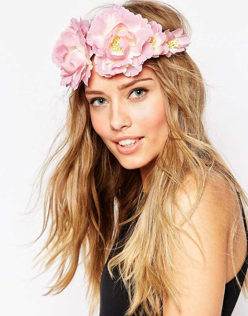 ASOS Pretty Blush Flower Headband