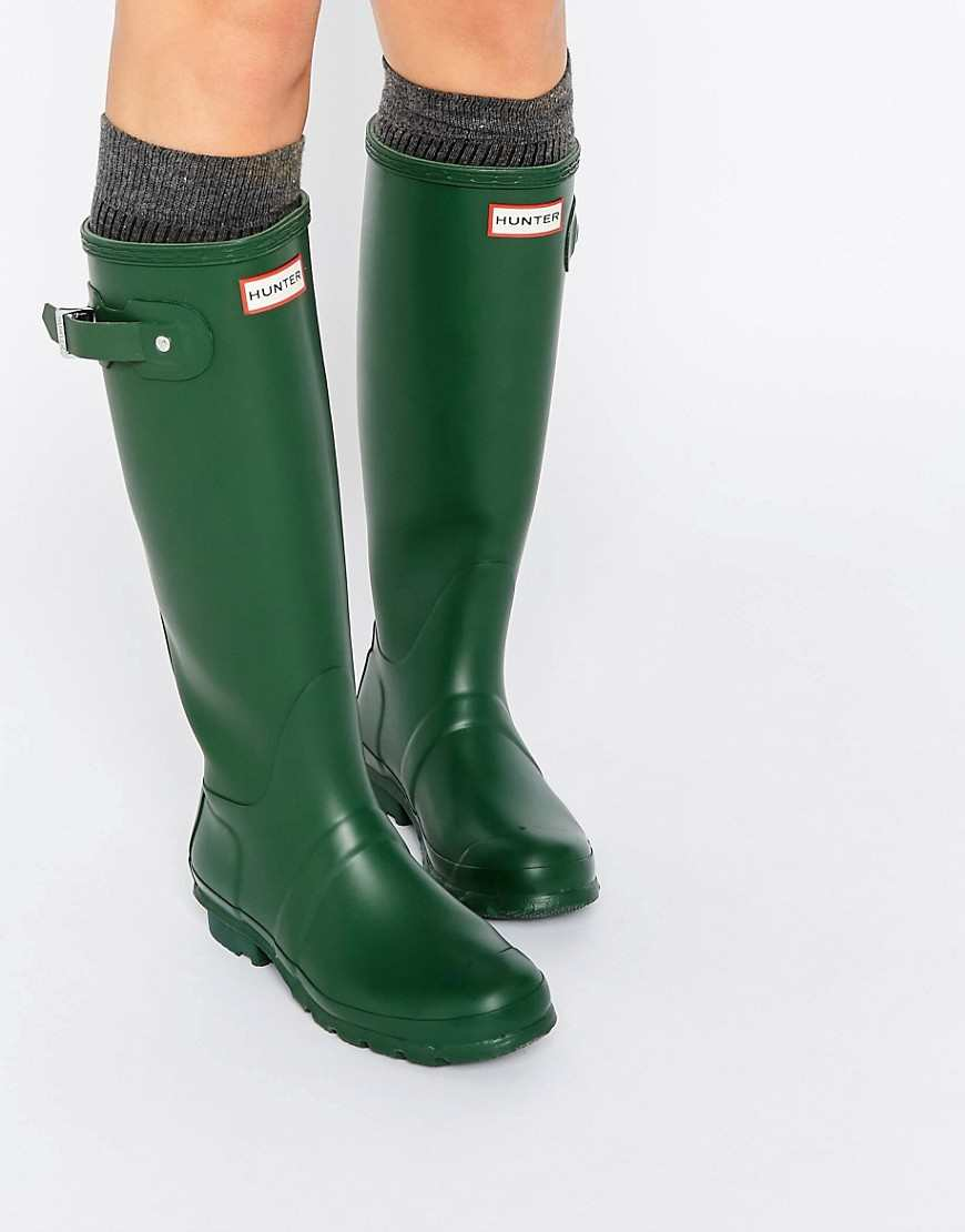 Hunter Original Tall Hunter Green Adjustable Wellington Boots