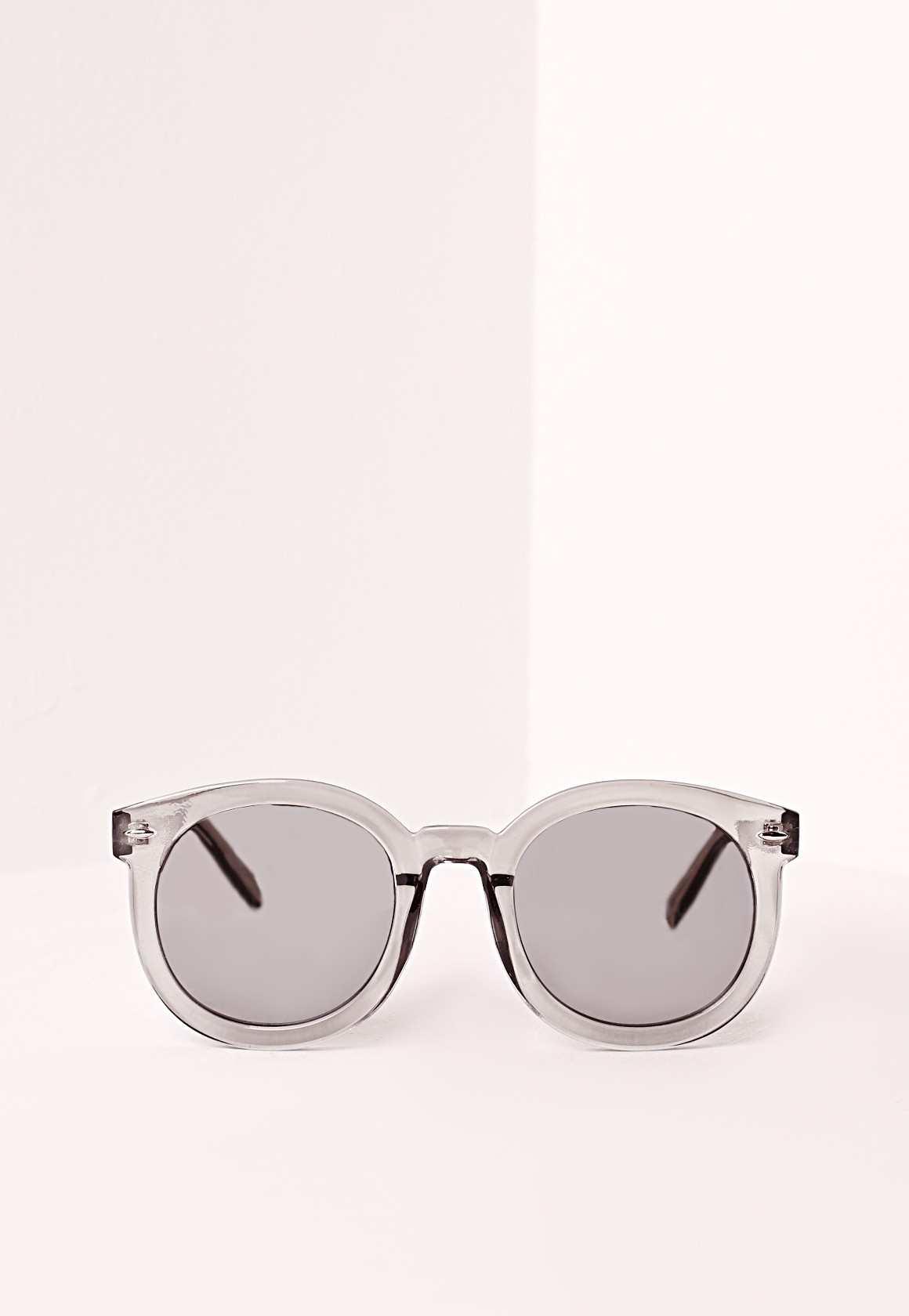 Missguided smoke frame sunglasses silver