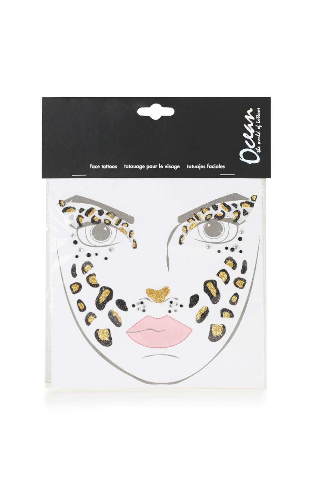 Topshop Leopard Face Sticker