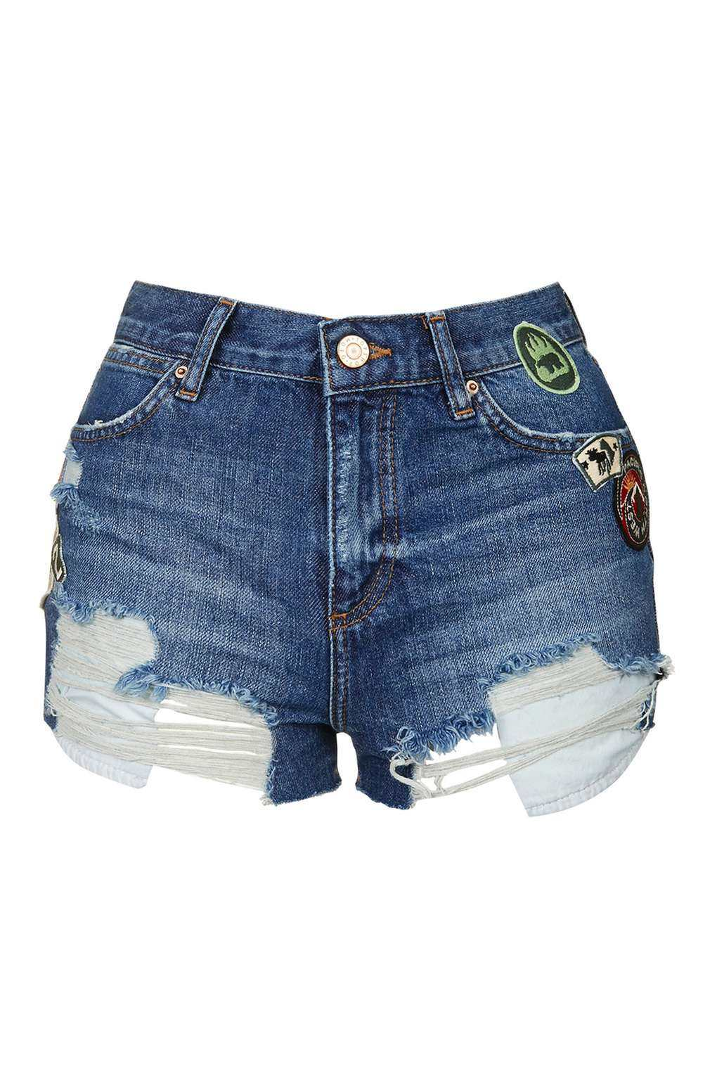 Topshop MOTO Badged Rosa Shorts