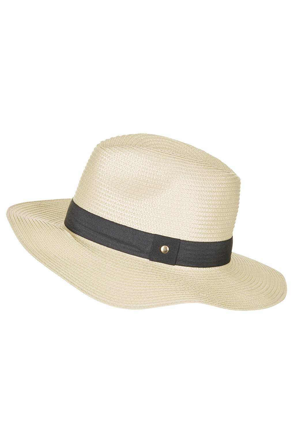Topshop Natural Fedora
