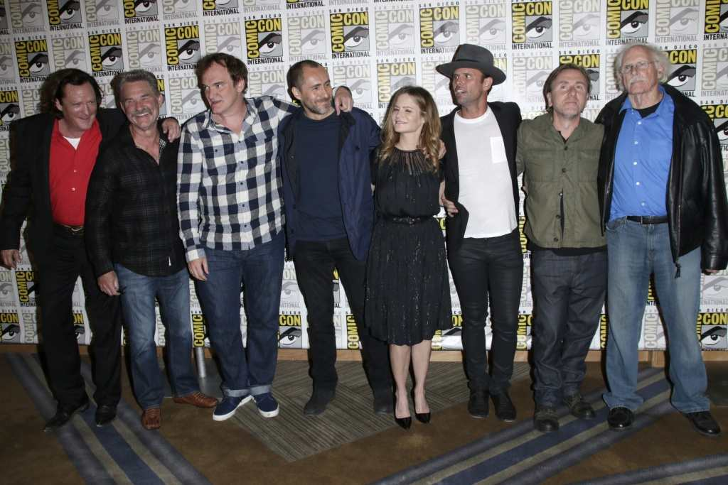 Cast of The Hateful Eight at Comic Con 2015  TheFuss.co.uk