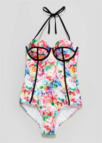 Matalan Floral Underwired Swimsuit