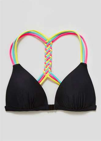 Matalan Plaited Racer Back Bikini Top