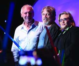 Harrison Ford, Mark Hamill, Carrie Fisher at Comic Con 2015 TheFuss.co.uk