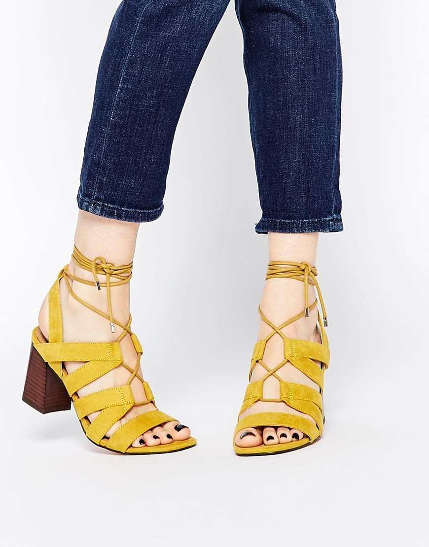 ASOS TALK SHOW Lace Up Sandals