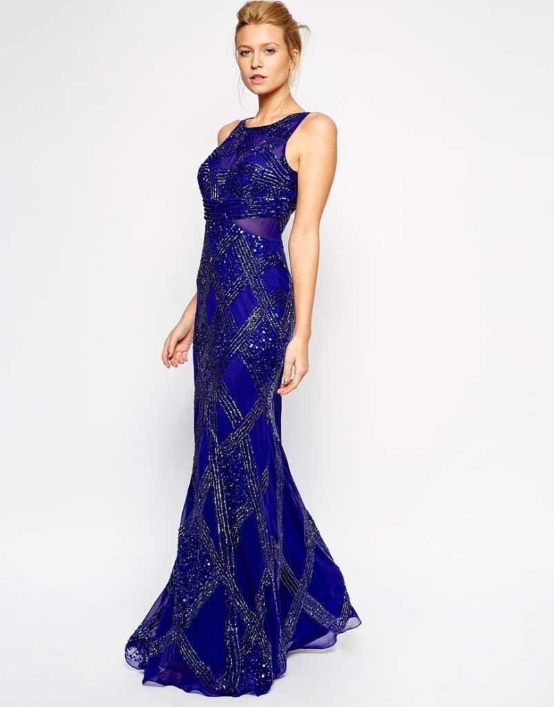 Forever Unique Alison Beaded Maxi Dress