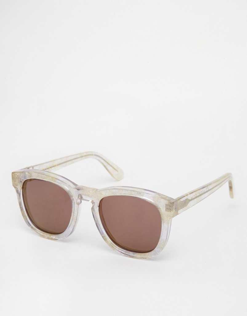 Wildfox Classic Fox Deluxe Glitter Sunglasses