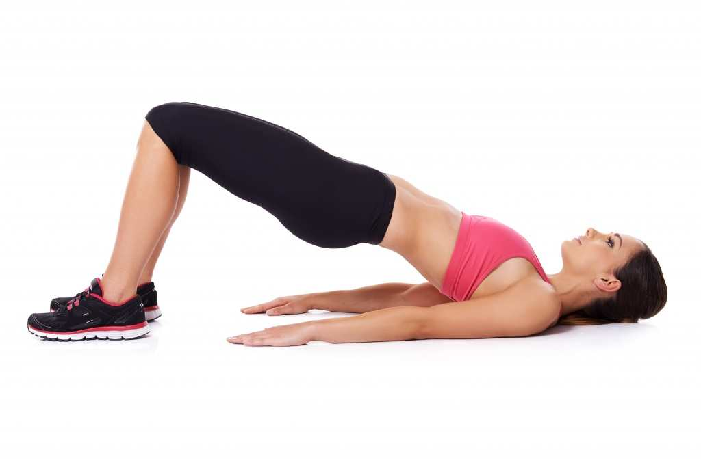 Glute bridges are great for working the lower back muscles too TheFuss.co.uk