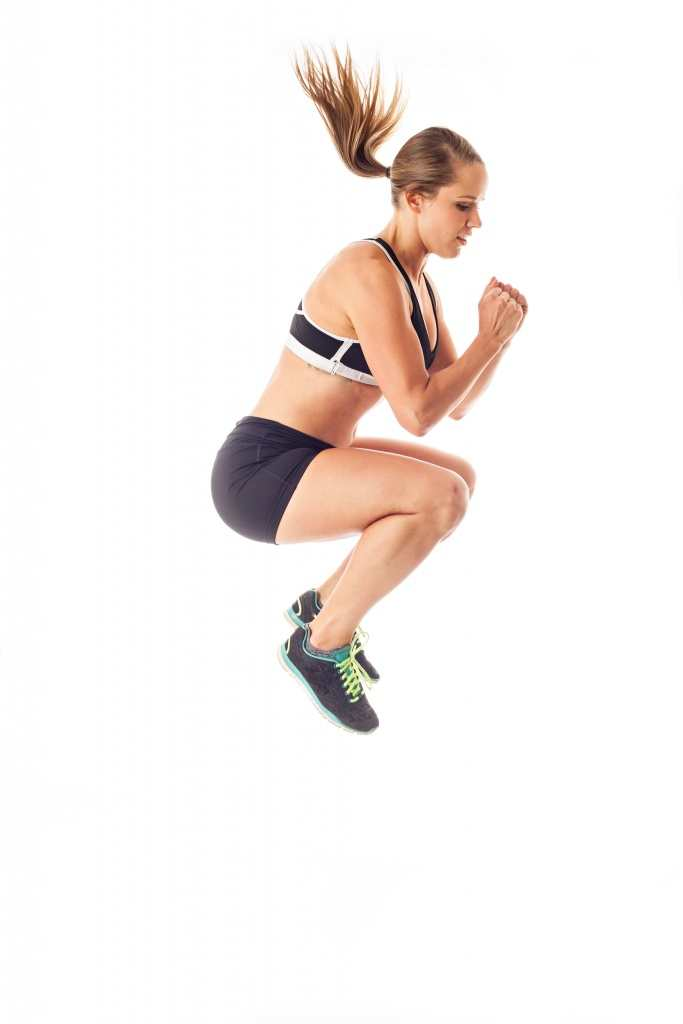 Make sure you engage your stomach when doing tuck jumps to get the most from the exercise TheFuss.co.uk