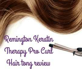 Remington Keratin Therapy Pro Curl Hair tong review TheFuss.co.uk