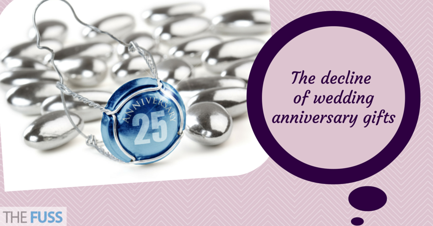List Of Traditional Wedding Anniversary Gifts Uk : The decline of traditional wedding anniversary gifts TheFuss.co.uk