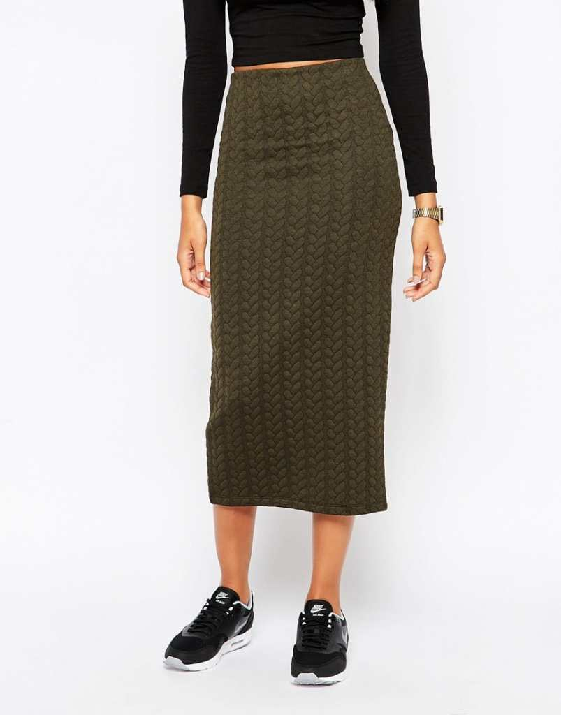 ASOS Pencil Skirt in Cable Knit Texture