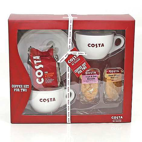 Costa Coffee cup set for two