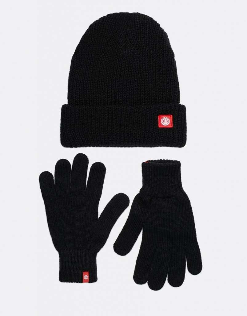 Element Icon Beanie Hat & Gloves Set