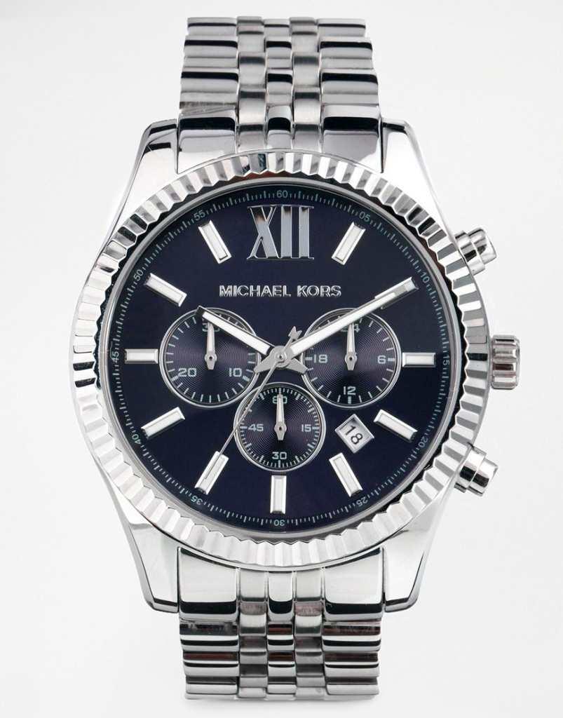 Michael Kors MK8280 Watch Lexington Chronograph Silver