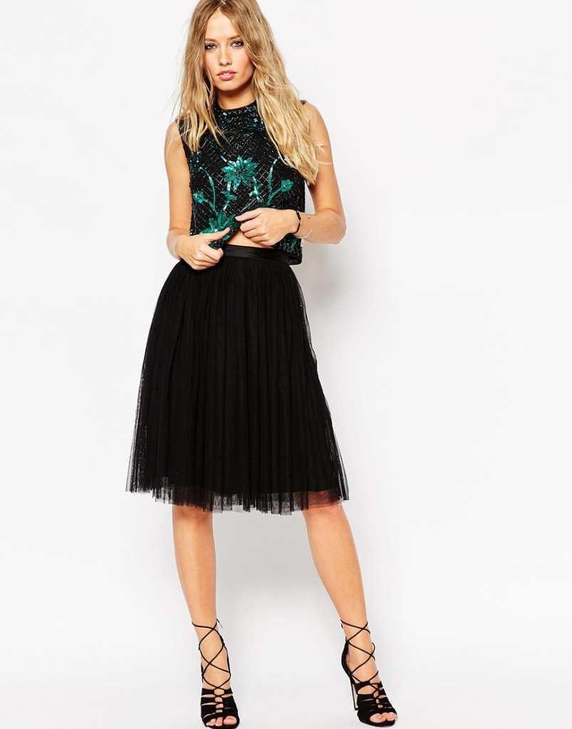 Needle & Thread Tulle Ballet Midi Skirt