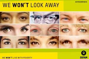 Celebrities join #eyesonParis campaign for Oxfam TheFuss.co.uk