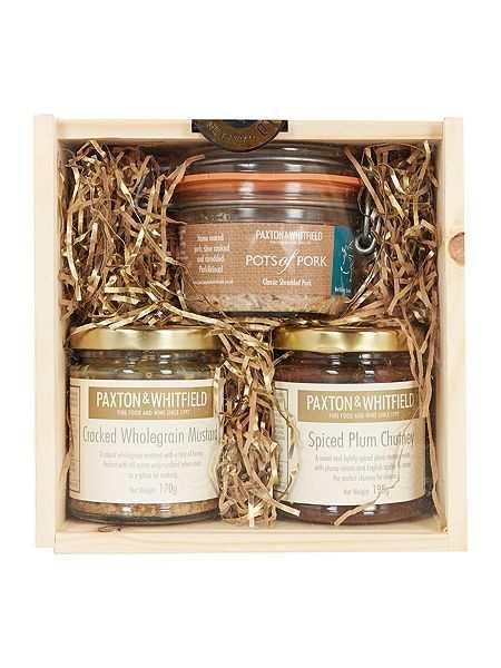 Paxton & Whitfield Pork, Plum Chutney And Mustard Mini Crate Set