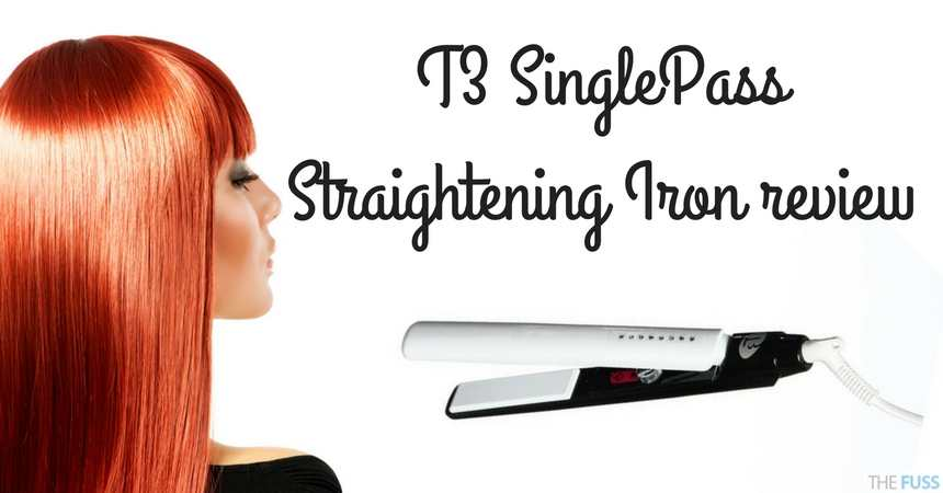 T3 SinglePass Straightening Iron Review TheFuss.co.uk
