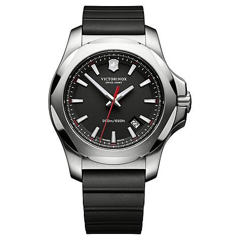 Victorinox Men's I.N.O.X Rubber Strap Watch, Black