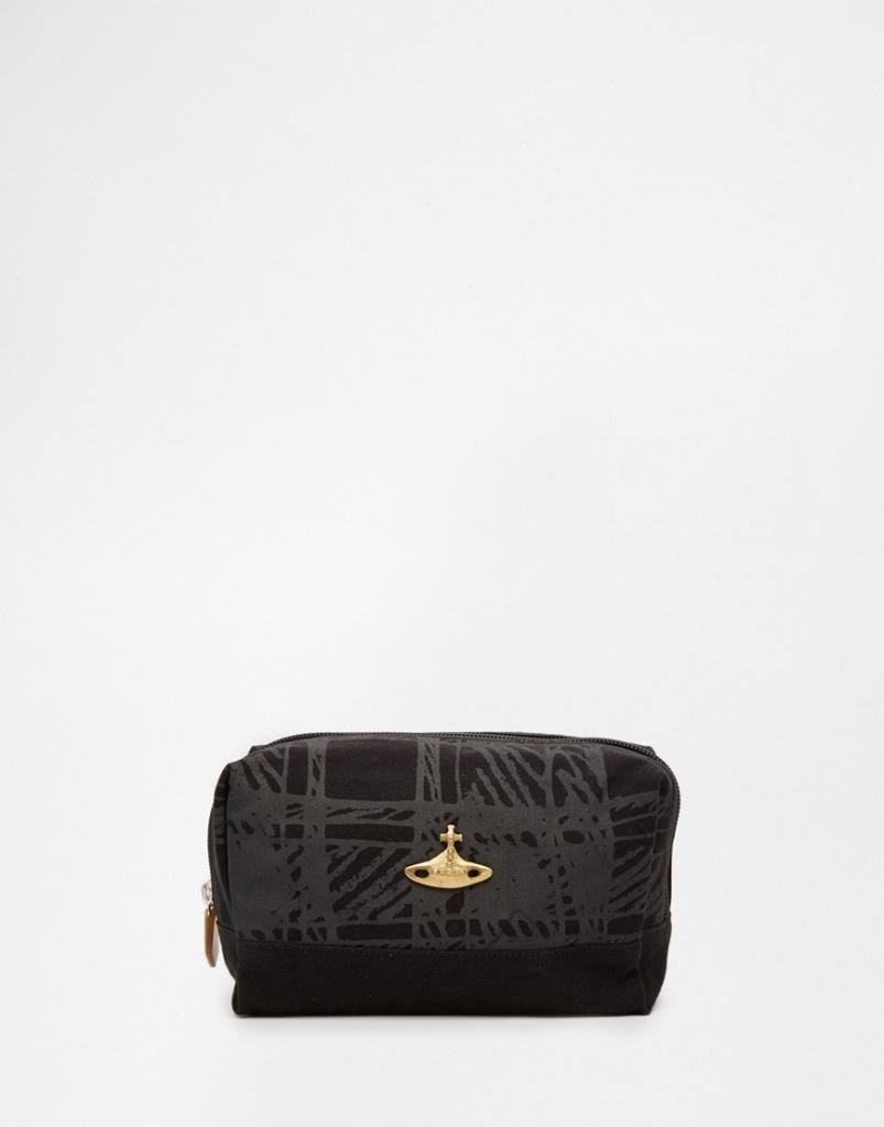 Vivienne Westwood Africa Scribble Tartan Wash Bag