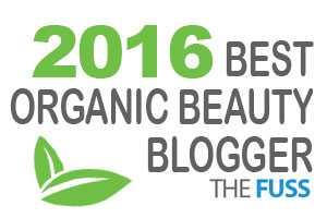 Best Organic beauty blogger award TheFuss.co.uk