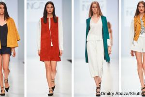 Brightly coloured suede was featured at INCITY SS16 TheFuss.co.uk