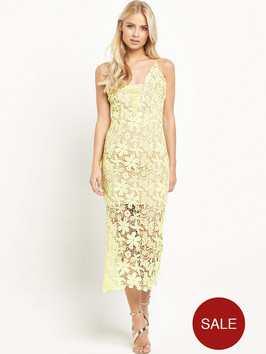 Jarlo Estrella Crochet Midi Dress