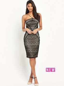 Lipsy Geometric Lace Dress